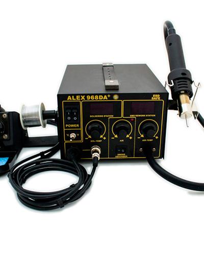 Паяльная станция ALEX-968DA+ (с поглотителем паяльного дыма)(дополнительный трехступенчетый фильтр) НОВИНКА!